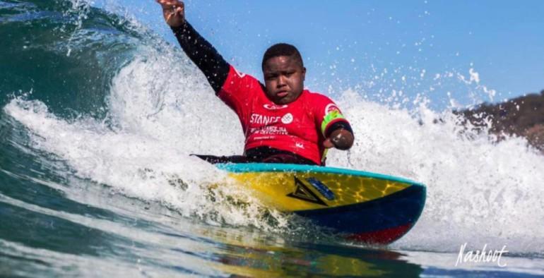 Freddy Marimón se proclamó nuevamente campeón del Us Open de Surf Adaptado