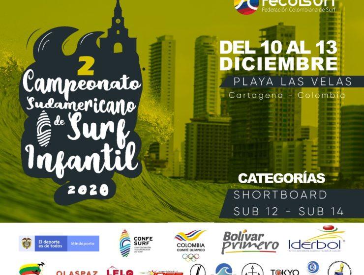 Colombia acogerá segundo Campeonato Sudamericano de Surf Infantil 2020.