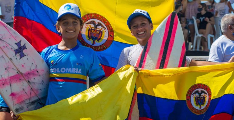 Colombia campeón del 2do Sudamericano de Surfing Infantil 2020